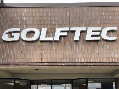 Channel Letters sign for Golftec