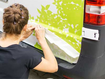 Green vehicle decal