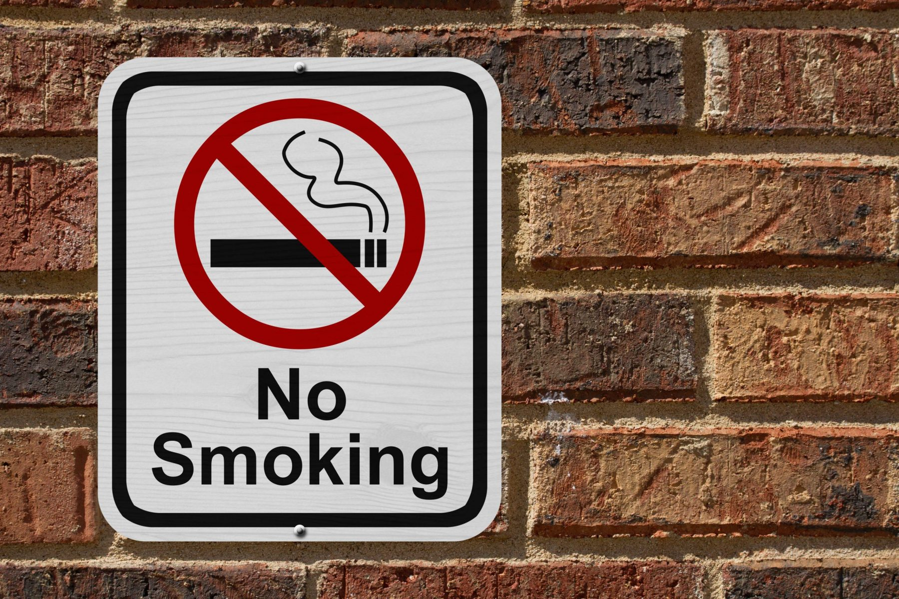 No smoking metal sign