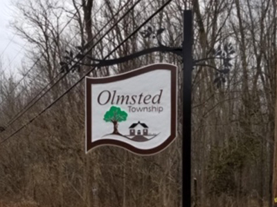 outdoor hanging sign olmsted township